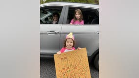 Georgia community puts together a drive-by birthday parade for 4-year-old girl
