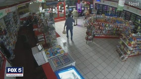 Police search for suspect in violent armed robbery in Locust Grove