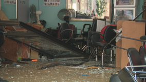 Car crashes into front of DeKalb County hair salon