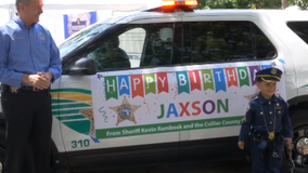 Deputies celebrate with boy after his cop-themed birthday party is cancelled