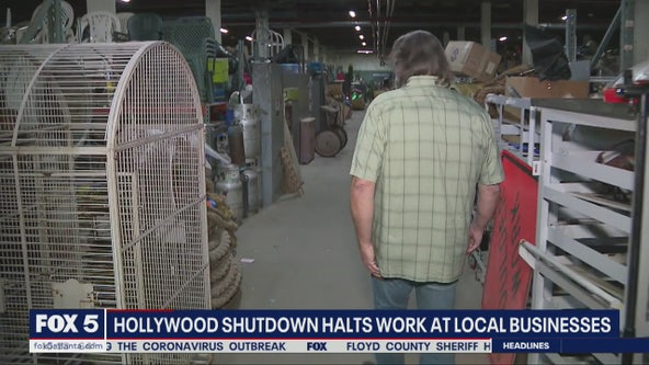 Hollywood shutdown halts work at local businesses