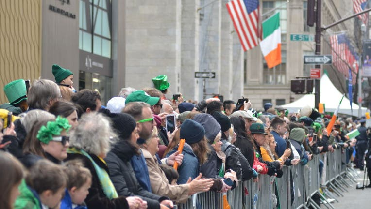 Thousands of people seen attending the annual St Patricks