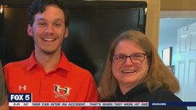Local family 'scores' with homemade Senior Night