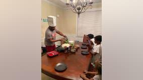 Georgia dad creates hibachi dinner for son's birthday