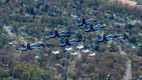Watch: Thunderbirds, Blue Angels fly over Atlanta