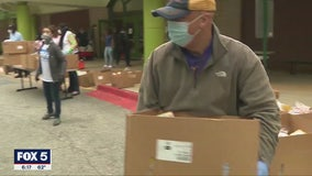 City of South Fulton gives away groceries at Welcome All Park