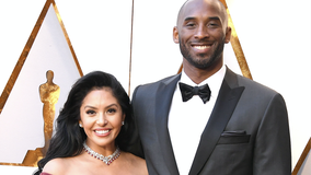 Vanessa Bryant reacts after Kobe Bryant is posthumously inducted into Basketball Hall of Fame