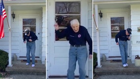 Quarantine 'can't stop the feeling' for this dancing World War II veteran