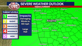 Strong to severe storms possible Wednesday