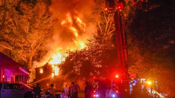 Fire destroys Coweta County family home
