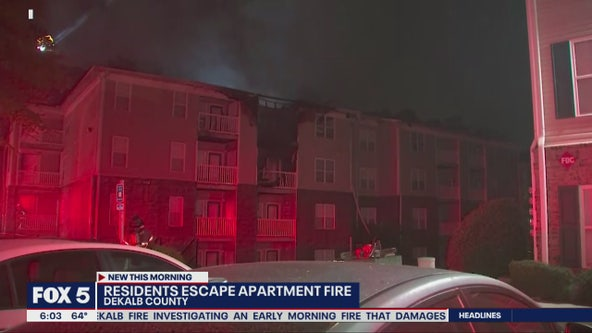 Residents escape DeKalb County apartment fire