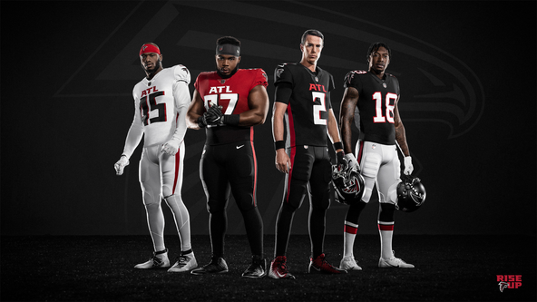 Falcons go back to black, pay homage to team's history and Atlanta with new uniforms