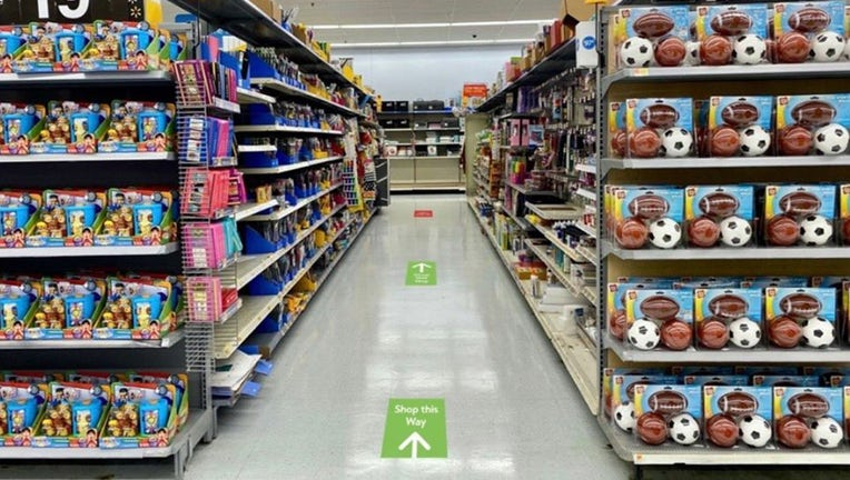 walmart one way aisles