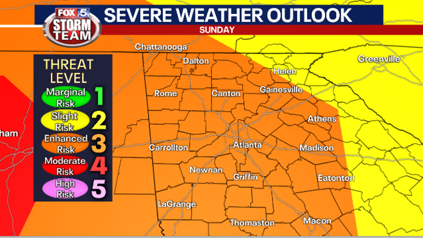 Widespread severe weather expected Easter Sunday