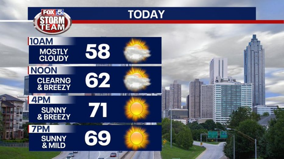 April 20, 2020 - Sunshine expected on Monday (FOX 5)
