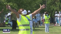 Worshipers take part in peaceful parking lot protest