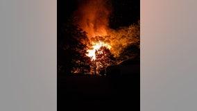 Firefighters battle large blaze at Carrollton home