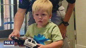 Sons of fallen Locust Grove officer receives replicas of his patrol car