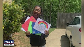Cheerleaders get creative to send some love to nursing home residents