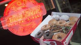 Cars line up for miles outside reopened Krispy Kreme in Louisiana