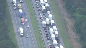 Sinkhole causes traffic delays along I-75 in Bartow County