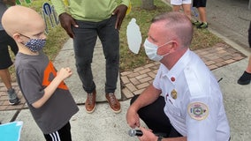 8-year-old cancer patient becomes honorary Pasco County firefighter on birthday