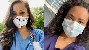 Falcons cheerleaders helping on the front lines as healthcare workers