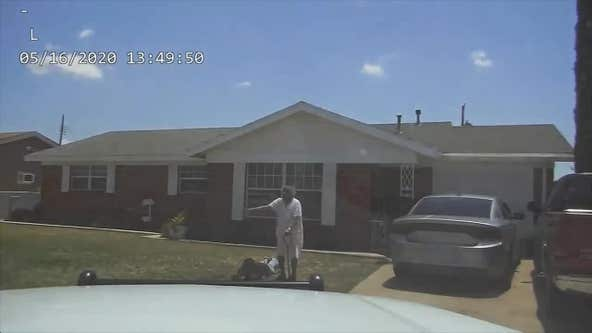Footage shows 90-year-old woman fall to ground during grandson's arrest