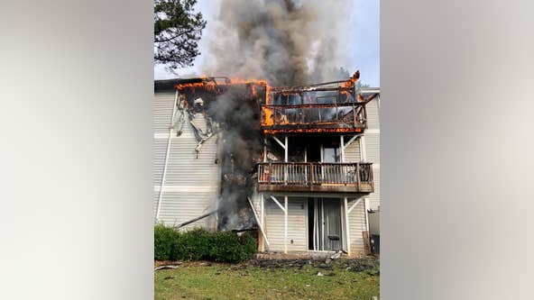 2 firefighters transported while battling DeKalb County apartment blaze