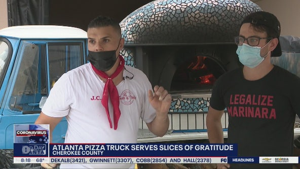 Atlanta pizza truck serves slices of gratitude