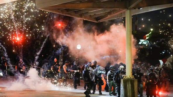 PHOTOS: Demonstrators clash with police on 2nd night of Atlanta protests