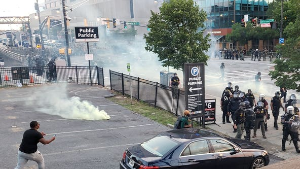 Atlanta Protest Day 3: Demonstrators scattered by tear gas, heavy police presence