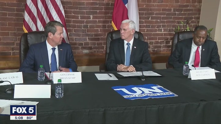 Vice President Pence visits Atlanta for the second...