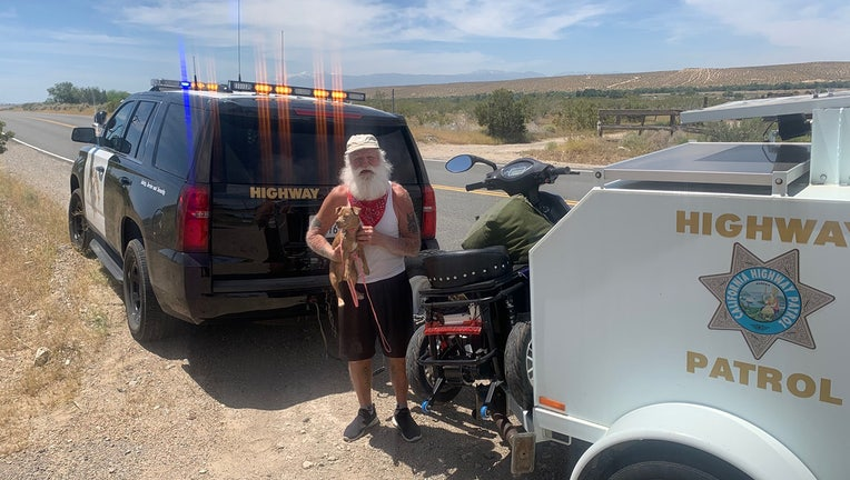 CHP Helps Homeless Man 1