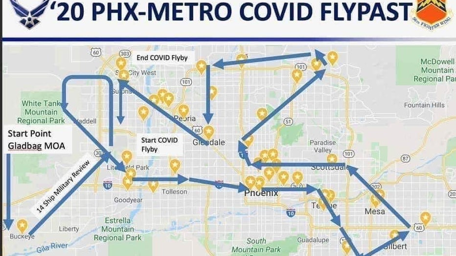 luke afb flyover map