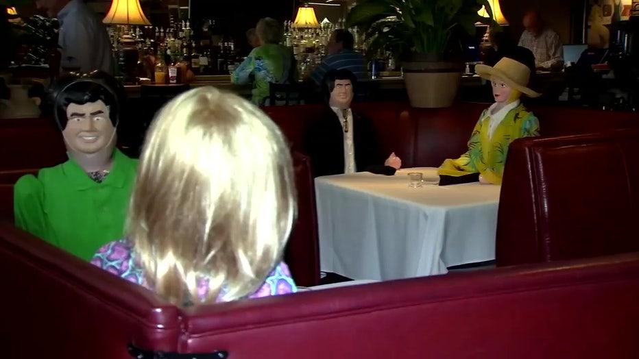 restaurant blow up dolls social distancing 1