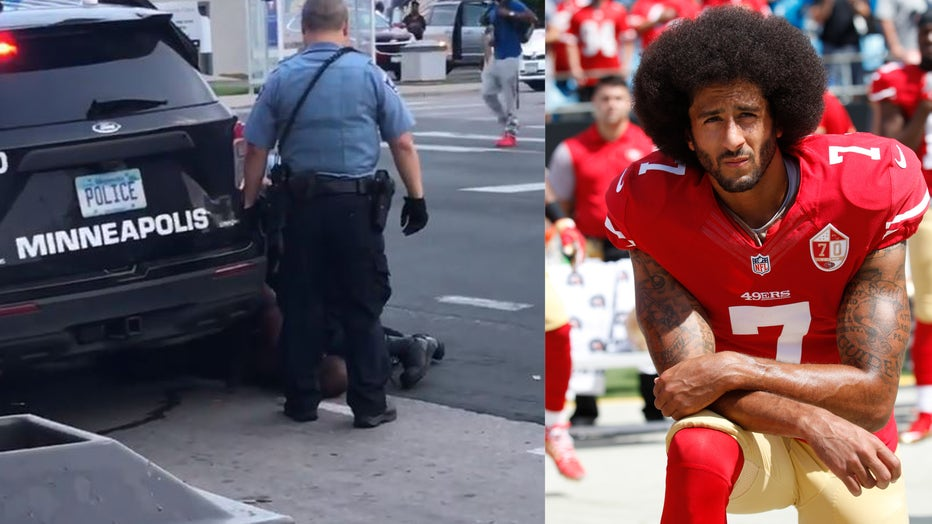 side by side minne and kaepernick