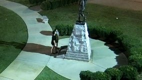 Police searching for suspected vandals of Griffin veterans memorial