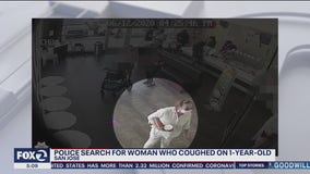 San Jose police looking for woman who they say purposely coughed on 1-year-old