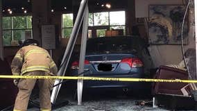 Police: No injuries after driver accidentally crashes into Dunwoody furniture store
