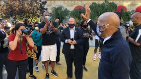 Rep. John Lewis tours 'Black Lives Matter Plaza' with DC mayor