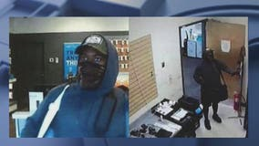 Police search for suspect in violent armed robbery at AT&T store