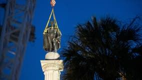 Slavery advocate's statue being removed in South Carolina