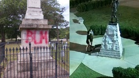 Police searching for suspects after Griffin war monuments vandalized