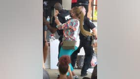 Carrollton police officers dance to 'Cupid Shuffle' with protesters