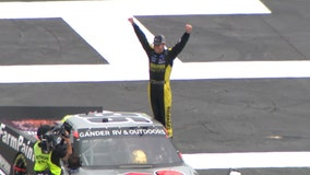 Enfinger takes advantage of late caution to win Trucks race