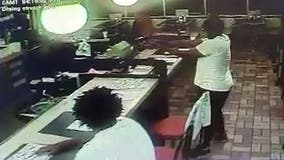 Surveillance video shows armed robbery at Stockbridge Waffle House