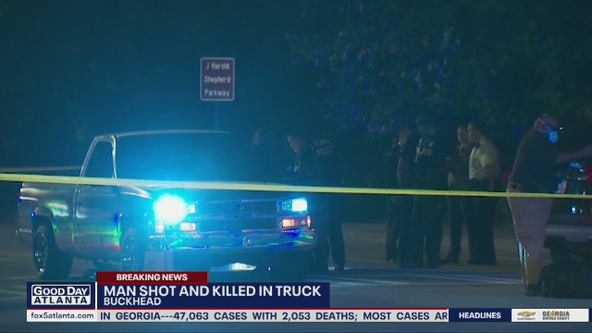 Man gunned down while sitting in truck in Buckhead