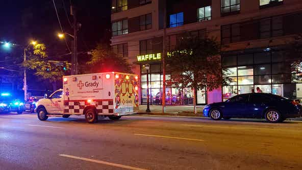 Drive-by shooting at downtown Waffle House leaves man in critical condition