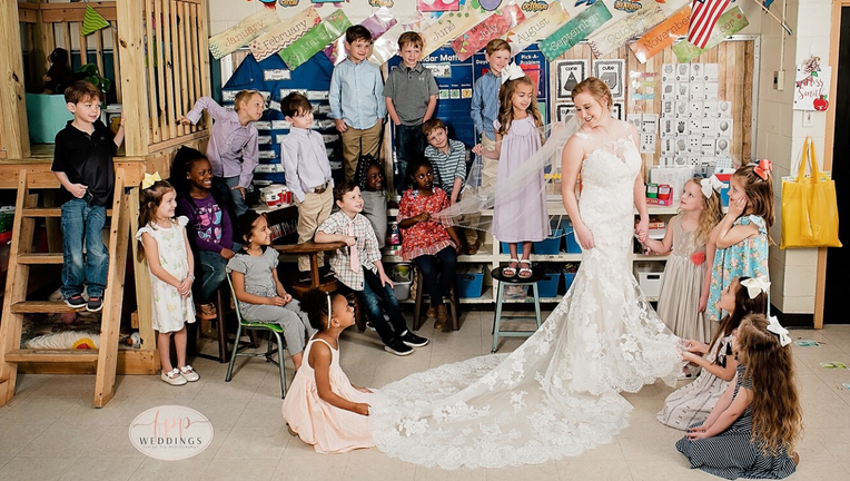 Bride and Students